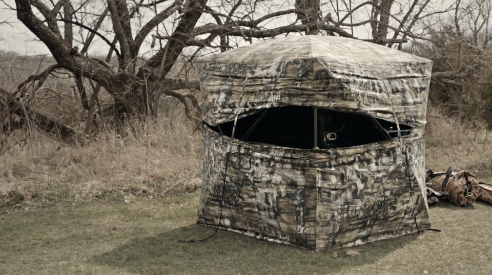 securing your success ground hunting blind blinds raised tips