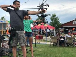 Raised at Full Draw Bowhunting Experience Raised Hunting bowhunting pop-up shoot and 3D target