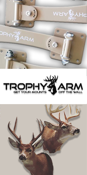 Trophy Arm Deer Wall Mount Raised Hunting Partner